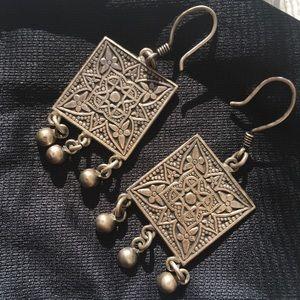 Jewelry - Vintage 800 Silver Fineness Earrings from Egypt